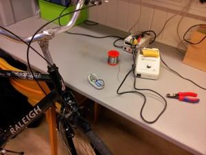 Cykel i elektronik-værkstedet