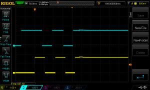 Pulser fra encoder